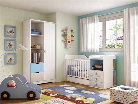 chambre de bebe original chambre b 233 b 233 gar 231 on lit 233 volutif bleu glicerio so