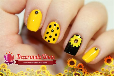 imagenes de uñas pintadas con girasoles u 241 as decoradas con girasol youtube