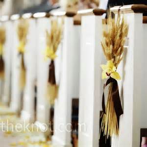 wheat ceremony decor shyanne and chad s wedding pinterest