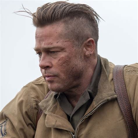 brad pitt s fury haircut a stylish undercut gallery brad pitt hairstyles