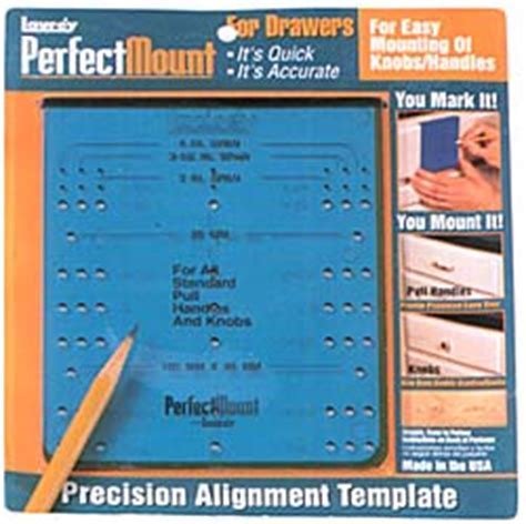 Laurey 98101   Perfect Mount Knob & Pull Template for