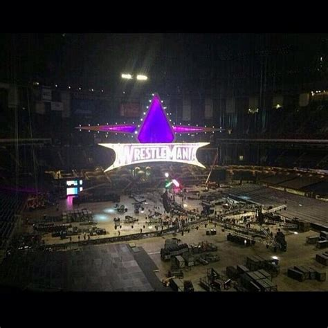 wwe wrestlemania 30 results april 6th 2014 pwmania new photo of the wwe wrestlemania xxx set being built