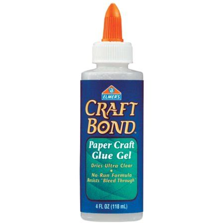 Paper Craft Glue - elmer s craftbond r paper craft glue gel 4oz walmart