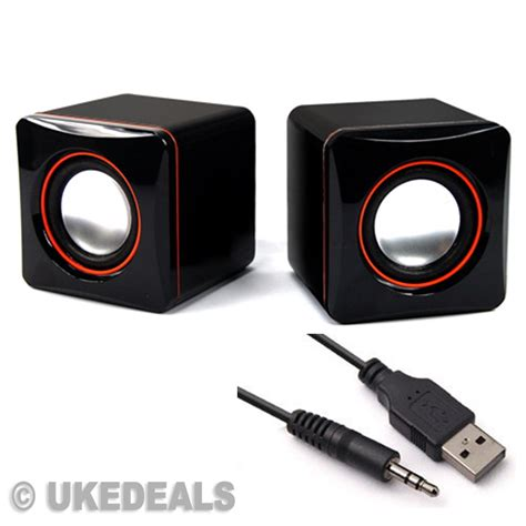 Speaker For Laptop Usb black usb speaker s portable computer laptop speakers multimedia desktop pc new ebay