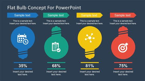 ppt slide layout free download free flat bulb concept slides