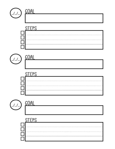 templates for goal setting free printable goal setting worksheet planner setting