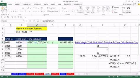 how to calculate total hours schedule in excel spreadsheet