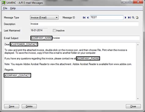 email format sending company profile how to send emails from sage 300 erp sage 300 erp tips