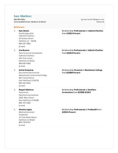 Reference Sheet For Resume by Functional Resume Reference Sheet