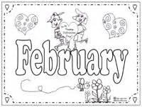 february coloring pages educational months coloring pages