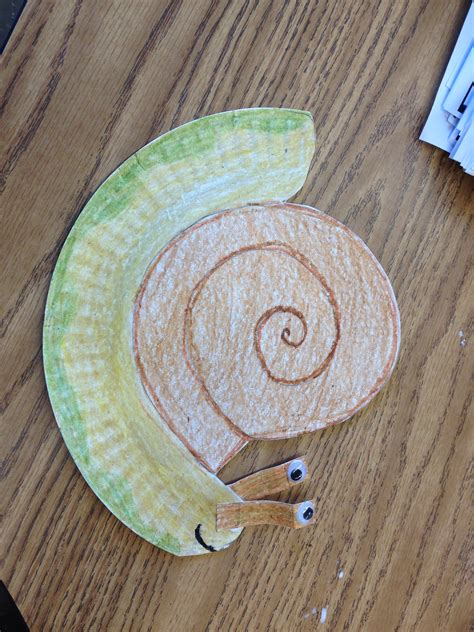 Snail Paper Plate Craft - paper plate snail craft education