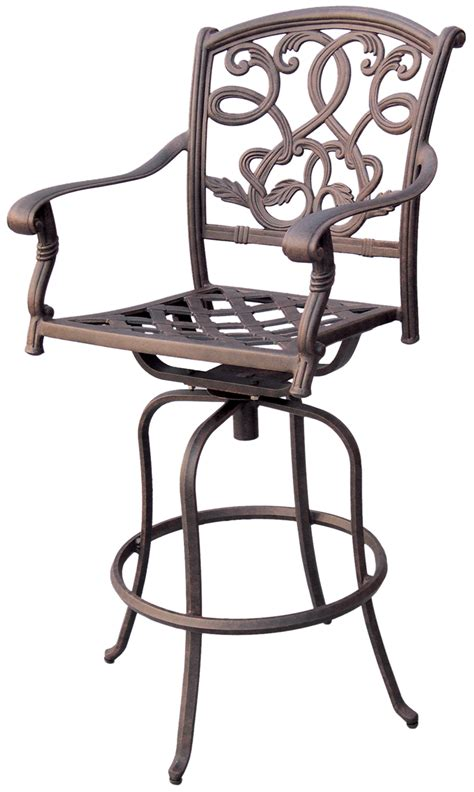 cast aluminum bar stools patio furniture bar stool swivel cast aluminum santa monica