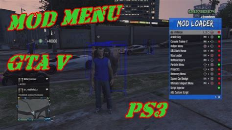 nuevo mod menu de gta v de pago youtube mod menu gta v ps3 1 27 1 28 dex cex bles blus download