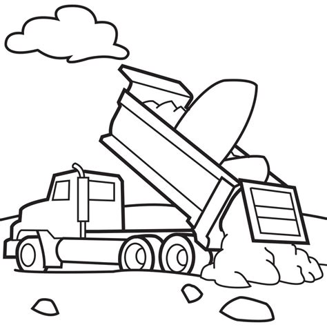Dump Truck Coloring Page free printable dump truck coloring pages for