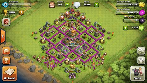 editing layout coc townhall 7 defense layout clash of clans wiki