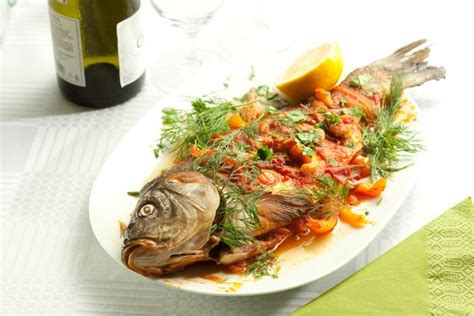 grilled carp with mediterranean sauce there is no sincerer love than the love of food