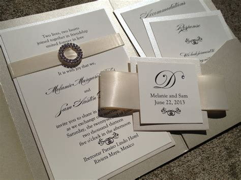Unique Pocket Wedding Invitations by Exclusive Wedding Invitations With Pockets Theruntime