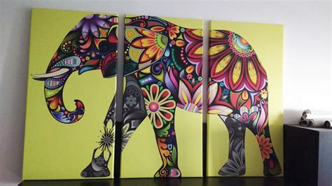 cuadros elefantes eutisona cuadros elefante de colores