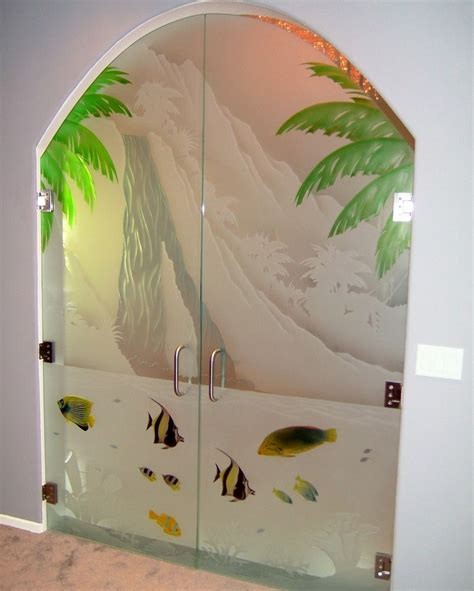 Paint Glass Door Etched Painted Glass Entry Door Sans Soucie Glass