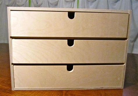 Small Storage Boxes With Drawers by Moppe 3 Drawer Small Storage Box Wood Bedroom