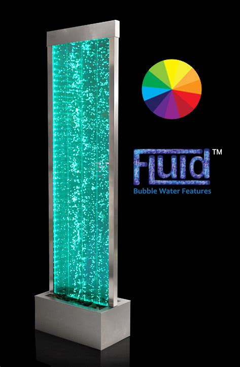 cm bubble water wall  colour changing led lights