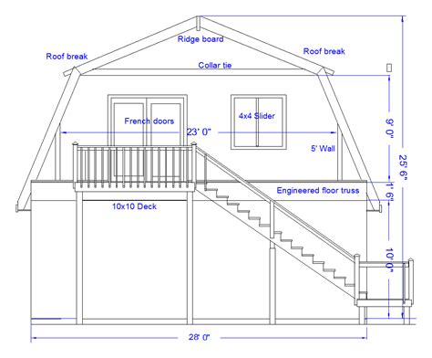 gambrel barn plans gambrel roof plans images