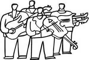 orchestra with violas coloring page free printable