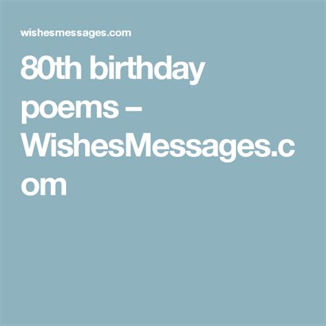 80th Birthday Quotes 80th Birthday Poems Wishesmessages Com Moms 80th
