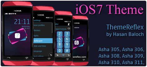themes iphone s40 ios7 iphone theme for nokia asha 305 asha 306 asha 308