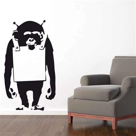 banksy wall stickers uk banksy monkey wall sticker wall chimp uk