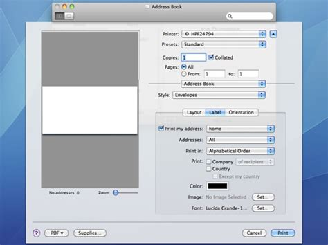 printing address labels from mac how to print contacts from mac os x snow leopard s address