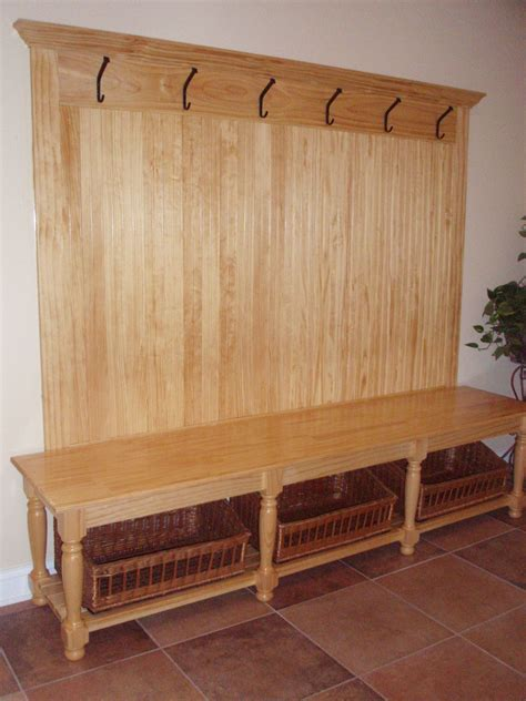 diy coat rack bench woodworking hall bench plans