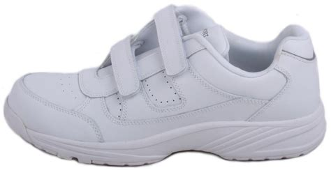 rockport piermont mens white leather velcro walking shoes wide width ebay