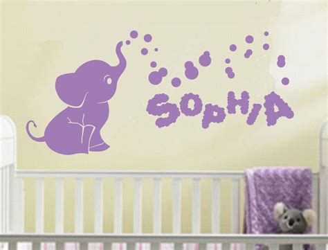 Elephant Wall Decals Nursery Name Wall Decal Elephant Wall Decal Nursery Baby Room
