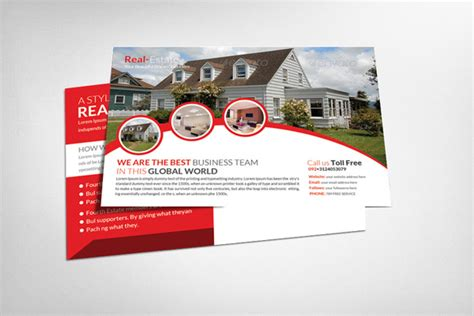 20 nice real estate postcards templates