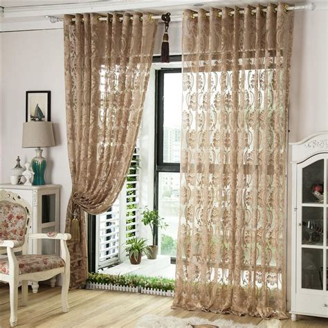 cream bedroom curtains 3 styles customer made sheer curtains cream coffee brown