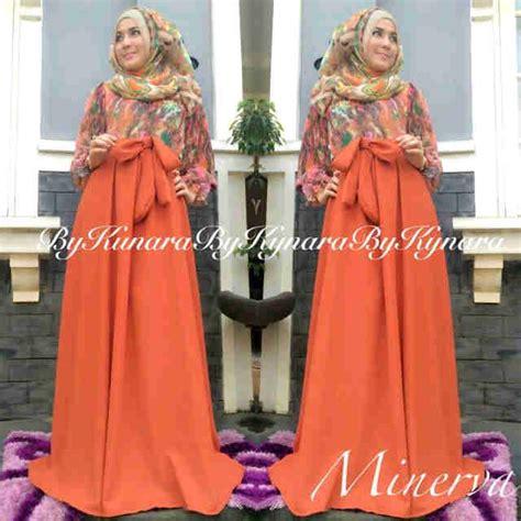 Arina Syar I Purple minerva by kynara orange baju muslim gamis modern