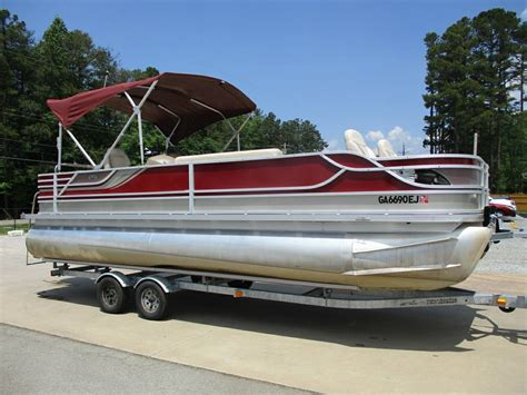 used pontoon boats for sale lake cumberland crest pontoon boats boats for sale boats