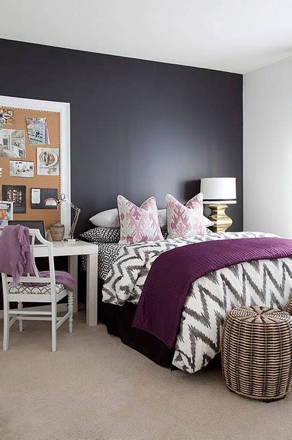 Gray And Purple Bedroom Ideas by Purple Accents In Bedrooms 51 Stylish Ideas Digsdigs