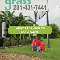 Cost To Sod Backyard What S The Cost To Sod A Yard Houston Grass South Pearland
