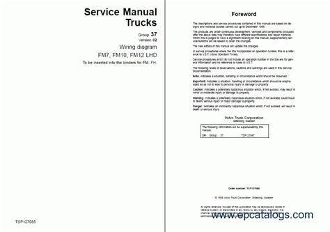 volvo fm7 9 10 12 fh12 16 nh12 wiring diagrams repair