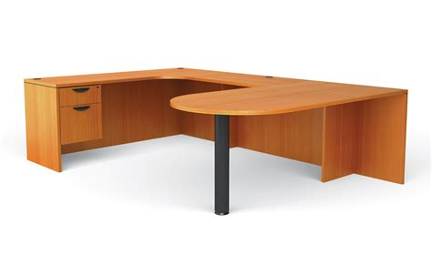 Offices To Go Superior Laminate U Shaped Desk W Peninsula Shaped Desk
