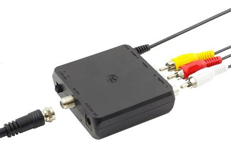 Adaptor Untuk Radio rf modulator with a dvd player and tv