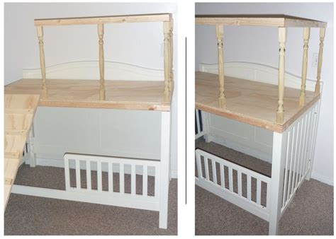 Crib Turned Play Loft Play Room Pinterest Toys Bunk Bed Crib Combo