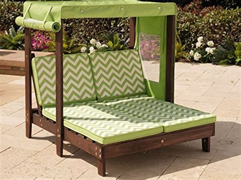 outdoor double chaise lounge with canopy kidkraft outdoor double chaise lounge with canopy kids