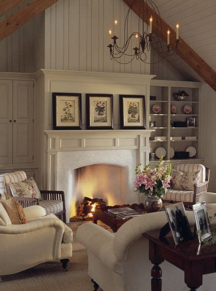 Cottage Style Fireplace by Zimmerman Architects Architecture Federal Living