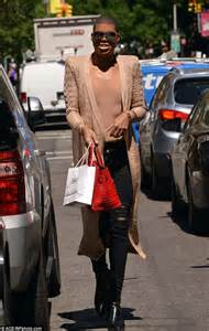 new york tattoo reality show bodysuit clad ej johnson gets in some retail therapy