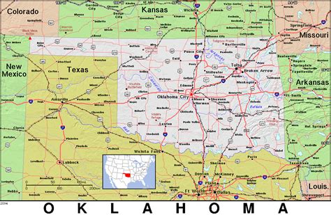 road map of oklahoma and texas kansas oklahoma map afputra