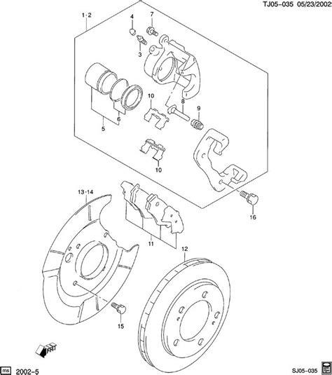2002 chevy tracker rear brake diagram rear brakes for 2002 chevy tracker zr2 imageresizertool