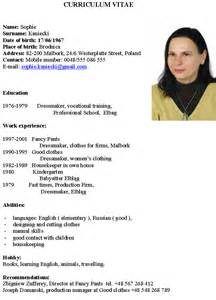 German resume examples examples of resumes german cv format sample for example job yelopaper Image collections